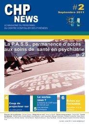 CHP News n°2 (pdf - 1,42 Mo) - Centre Hospitalier des Pyrénées