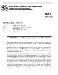 Assassinat de Rooldine LINDOR - Réseau National de Défense des ...