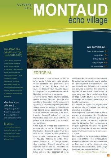 Téléchargez le numéro de septembre 2012 - Village Montaud