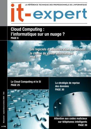 Cloud Computing : l'informatique sur un nuage ? - IT-expert Magazine