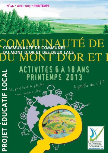 n°46 - avril 2013 - printemps - Communauté de Communes du Mont ...