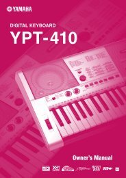 YPT-410 Owner's Manual - Yamaha Downloads