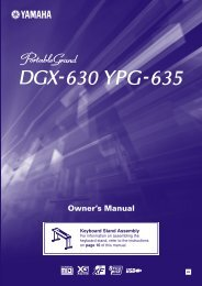 DGX-220, YPG-225 Owner's Manual - Yamaha