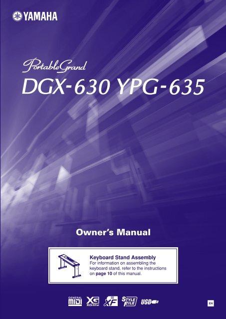DGX-630 YPG-635 Owner's Manual - Yamaha