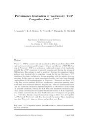 Performance Evaluation of Westwood+ TCP Congestion Control⋆,⋆⋆
