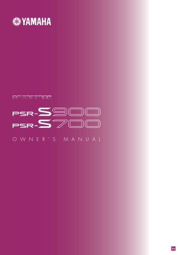PSR-S900/S700 Owner's Manual - Crustysocks.com