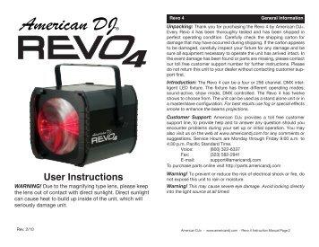 Revo 4 инструкция на русском