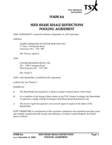 Execution Of Share Exchange Agreement To Make Sorun