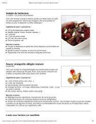 Salade de betterave Sauce vinaigrette allégée maison Lapin ... - LRI