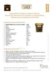 Suprême de Pigeon Sauce Salmis, Purée de Potimarron relevée au ...