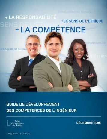 Guide de développement des compétences de l'inGénieur