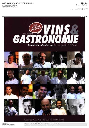 VINS & GASTRONOMIE HORS SERIE - Eric Frechon
