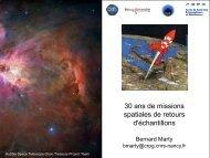 30 ans de mission spatiale et retour d'échantillon