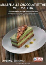 Millefeuille chocolat et thé vert Matcha Millefeuille chocolat et thé ...