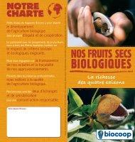 Les fruits secs - Biocoop