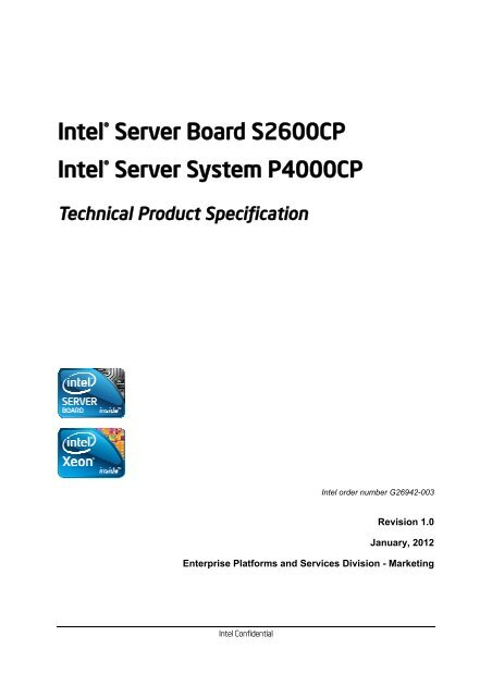 INTEL P4000CP SERVER SYSTEM DRIVERS FOR MAC