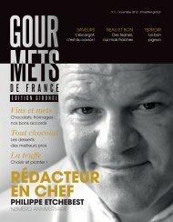 RÉDACTEUR EN CHEF - Gourmets de France