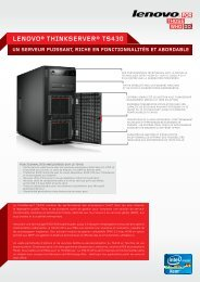 ThinkServer TS430 Datasheet - Lenovo