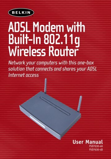ADSL Modem with Built-In 802.11g Wireless Router