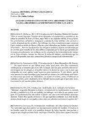 """Asignatura: """"Historia de Grecia II"""