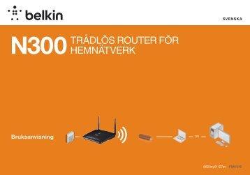N300TRåDLÖS ROUTER FÖR HEMNÄTVERK - Belkin
