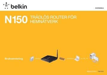 N150 trådlös router för hemnätverk - Belkin