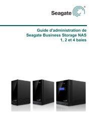 Guide d'administration de Seagate Business Storage NAS 1, 2 et 4 ...
