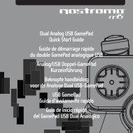 Dual Analog USB GamePad Quick Start Guide Guide de ... - Belkin