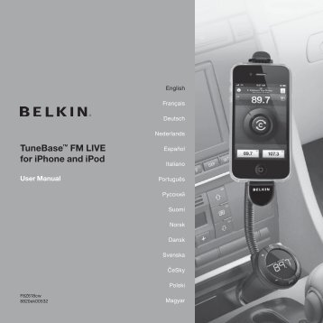 TuneBase™ FM LIVE for iPhone and iPod - Belkin