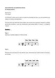Como desarrollar una modulacion metrica