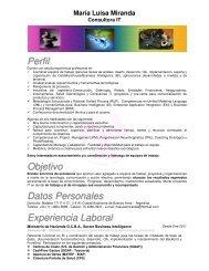 Perfil Objetivo Datos Personales Experiencia Laboral