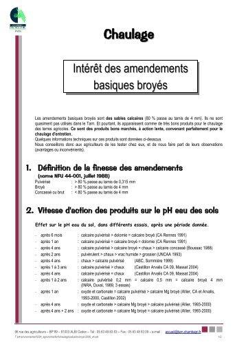 Chaulage magazines - Chambre d agriculture du roussillon ...