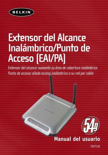 Extensor del Alcance Inalámbrico/Punto de Acceso (EAI/PA) - Belkin