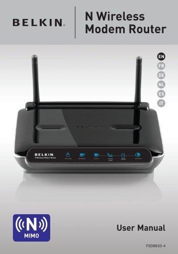 N Wireless Modem Router - Belkin