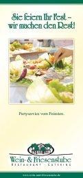 Catering-Broschüre (PDF) - Friesenstube