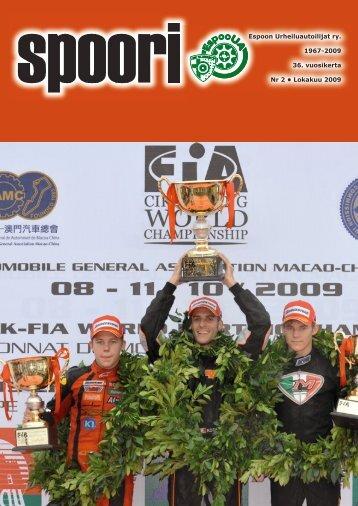 Espoon Urheiluautoilijat ry. 1967-2009 36. vuosikerta Nr 2 ...