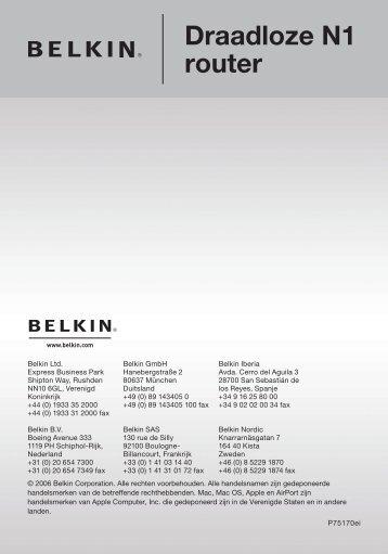 Draadloze N1 router - Belkin