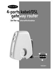 4-ports kabel/DSL gateway router - Belkin