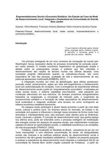 Empreendedorismo Social e Economia Solidário - Unioeste