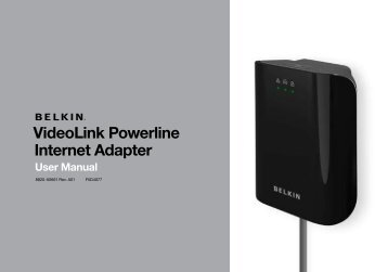 F5D4077 VideoLink Powerline Internet Adapter - Belkin