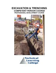 competent person- excavation - Technical Learning College