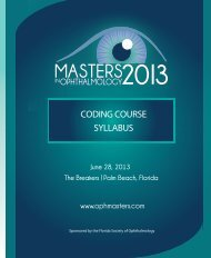 SYLLABUS CODING COURSE - Masters in Ophthalmology