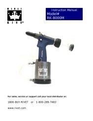 Model# RK-8000M - Industrial Rivet