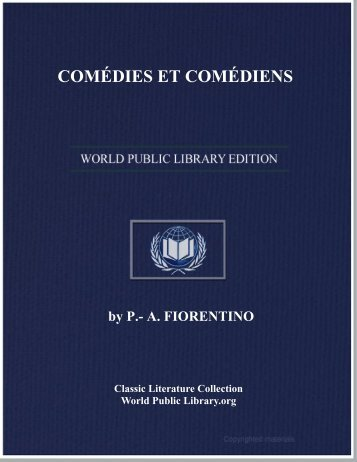 COMÉDIES ET COMÉDIENS - World eBook Library