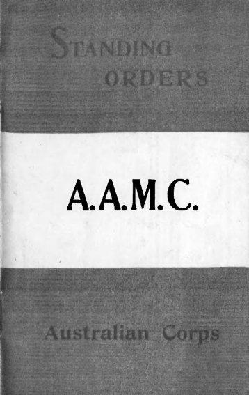Standing Orders - Australian Army