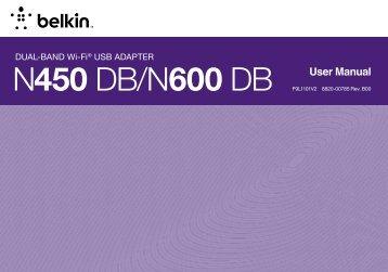 F9L1101v2 N600 DB Wireless Dual-Band USB Adapter - Belkin