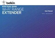 Wi-Fi® RANGE EXTENDER - Belkin