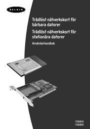 Trådlöst nätverkskort för bärbara datorer Trådlöst ... - Belkin