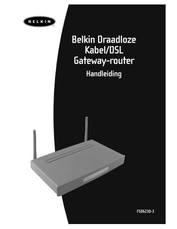 Belkin Draadloze Kabel/DSL Gateway-router