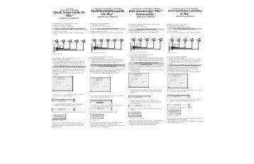 Quick Setup Guide for Mac® Snabbinstallationsguide för ... - Belkin
